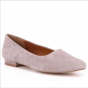 H by Halston Taupe Suede Linda Slip-on Flats 8 1/2